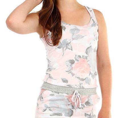 Dámské krátké šaty s potiskem růžová