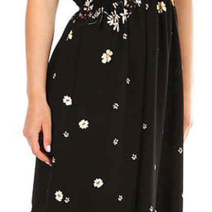Dámské letní dlouhé šaty s potiskem černá