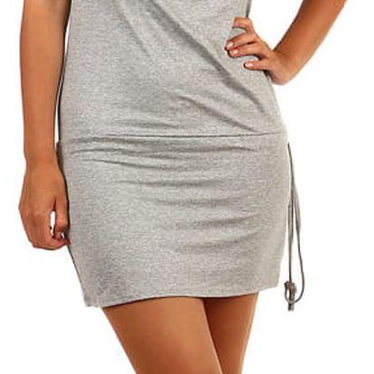 Jednobarevné šaty pro volný čas šedá