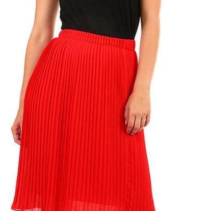 Dámská skládaná plisovaná sukně hořčicová
