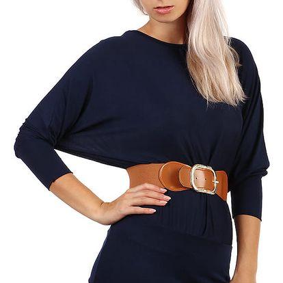 Dámské tričko s netopýřími rukávy tmavě modrá