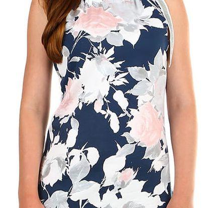 Dámské plážové šaty s potiskem tmavě modrá