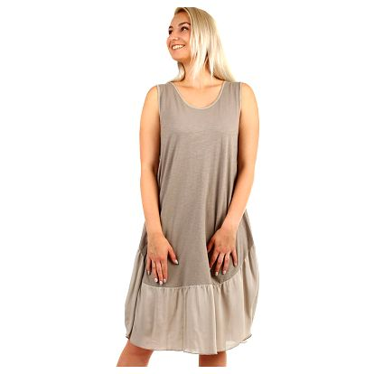 Dámské plážové oversized šaty hnědá