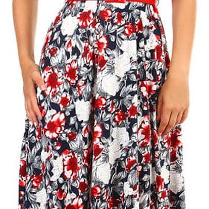 Dámské retro šaty s potiskem - i pro plnoštíhlé