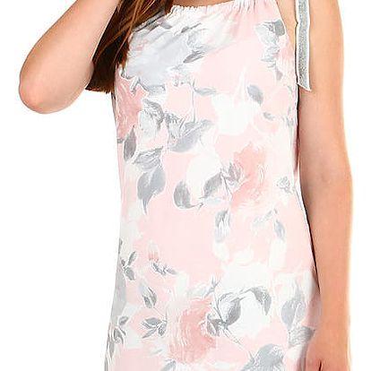 Dámské plážové šaty s potiskem světle růžová