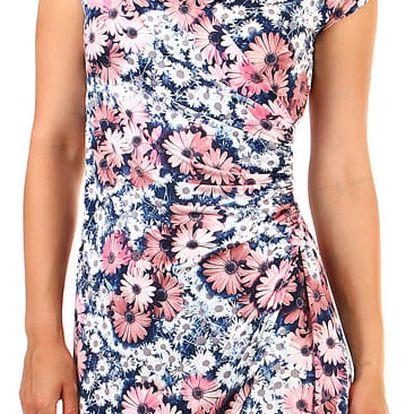 Dámské květované šaty- zavinovací efekt