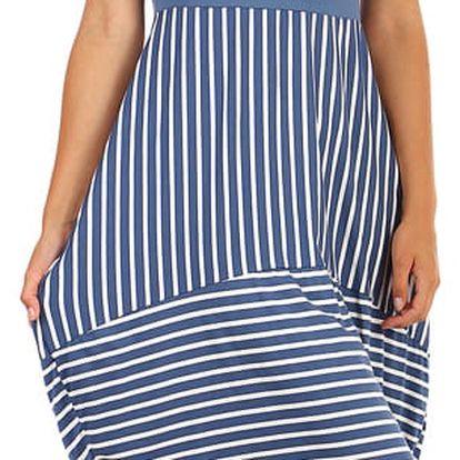 Dámské plážové šaty s balonovou sukní modrá