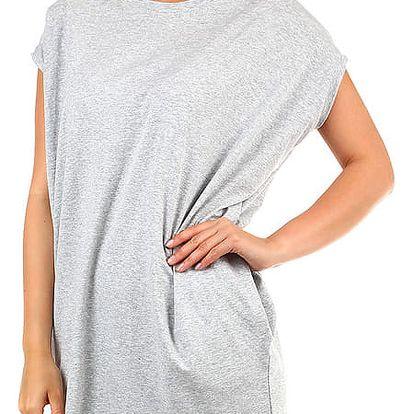 Dámské dlouhé tričko s krátkým rukávem šedá