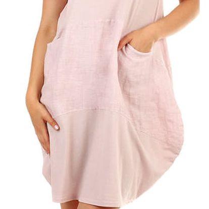 Dámské plážové oversized šaty světle růžová