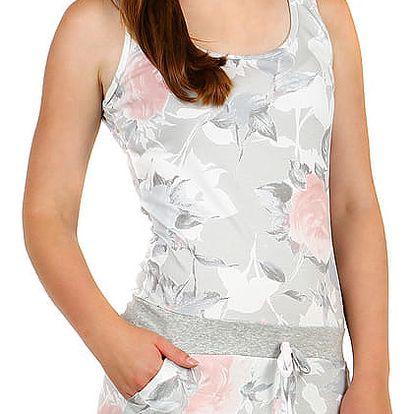 Dámské krátké šaty s potiskem šedá