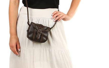 Dámská dlouhá sukně s ozdobným páskem béžová