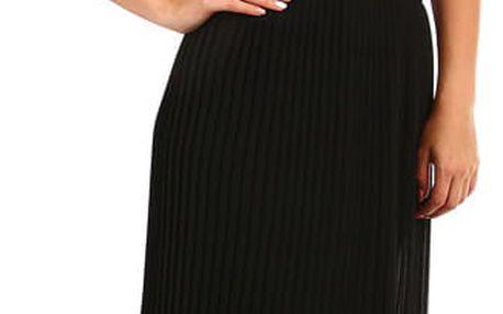 Dámská skládaná plisovaná sukně černá