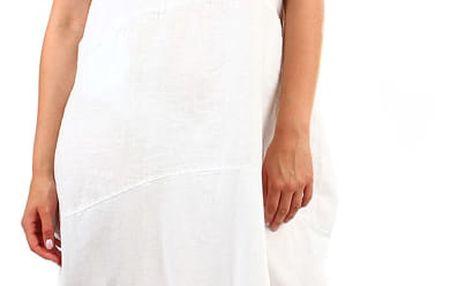 Dámské plážové oversized šaty bílá