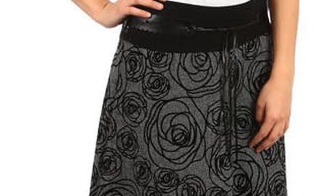 Dámská maxi zimní sukně se vzorem šedá