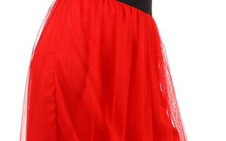 Dámská romantická tylová sukně bílá