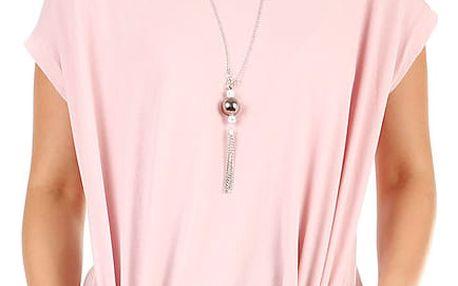 Dámské dlouhé tričko s krátkým rukávem růžová