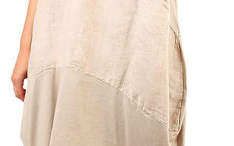 Dámské plážové oversized šaty béžová