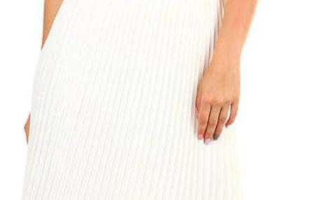 Dámská skládaná plisovaná sukně bílá