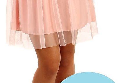 Krátká dámská tylová sukně světle modrá