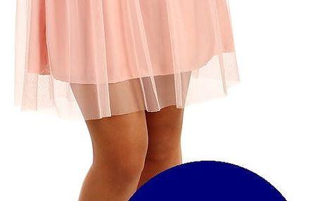 Krátká dámská tylová sukně tmavě modrá