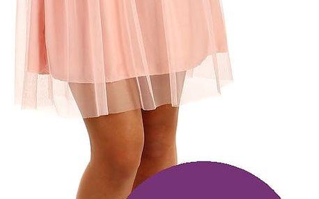Krátká dámská tylová sukně vínová