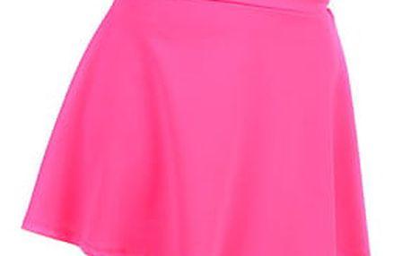 Jednobarevná dámská krátká sukně neon oranžová