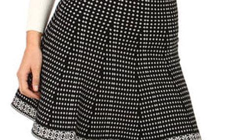 Zimní áčková dámská sukně černá