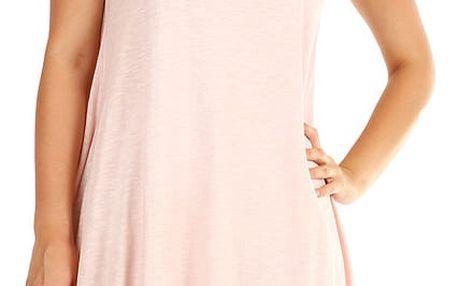 Dámské plážové oversized šaty růžová