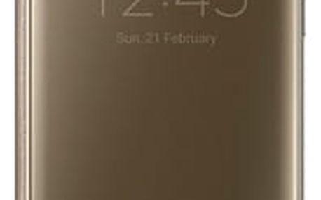 Pouzdro na mobil flipové Samsung Clear View pro Galaxy S7 Edge (EF-ZG935C) zlaté (EF-ZG935CFEGWW)