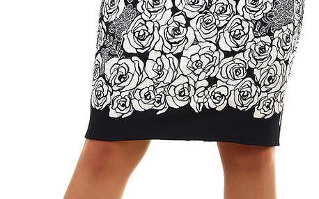 Dámská pouzdrová sukně pro plnoštíhlé tmavě modrá