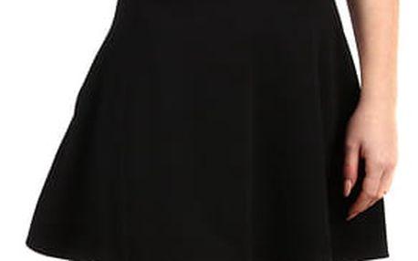 Jednobarevná dámská krátká sukně černá
