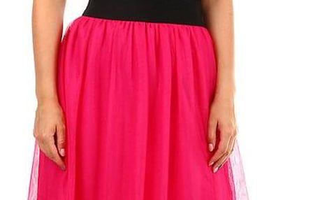 Dámská romantická tylová sukně růžová