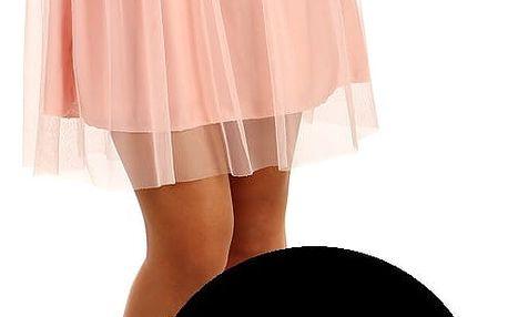 Krátká dámská tylová sukně černá