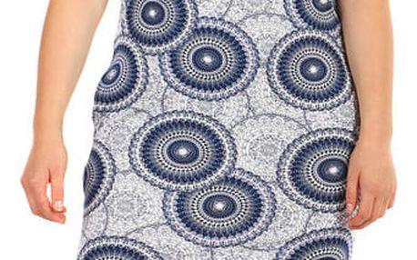 Vzorované šaty s krátkým rukávem - i pro plnoštíhlé světle růžová