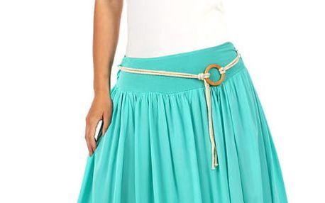 Romantická dámská maxi sukně modrá