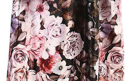 Dámská skládaná retro sukně černá