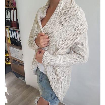 Dámský pletený kardigan Merrill - Béžový - SLEVA