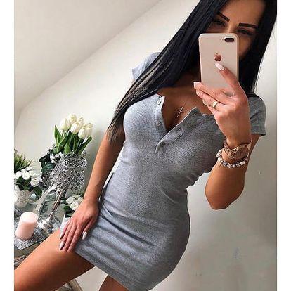 Jednobarevné dámské mini šaty - 3 barvy