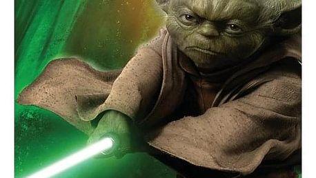 JERRY FABRICS Plážová osuška Star Wars Yoda 75x150 cm