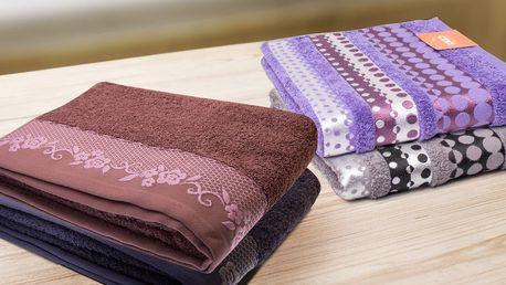 Měkké bavlněné ručníky a osušky BJORK a SILVER