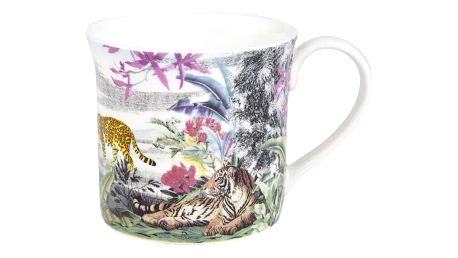 Hrnek z kostního porcelánu Ashdene Jungle Kingdom Big Cats, 260 ml
