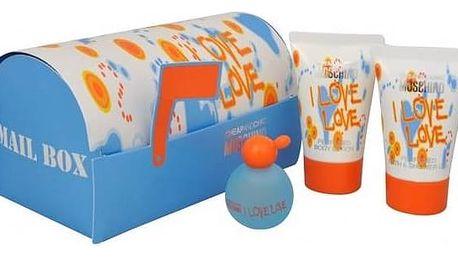 Moschino I Love Love toaletní voda dámská 4,9 ml + 25ml tělové mléko + 25ml sprchový gel