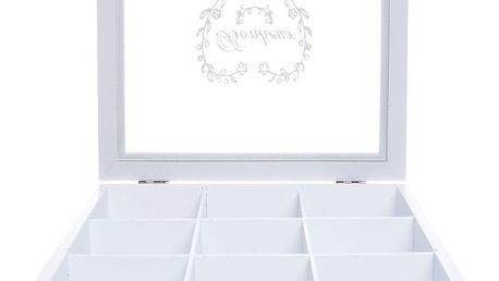 Dřevěná úložná krabička Ewax The Bonheur, 24 x 24 x 7 cm