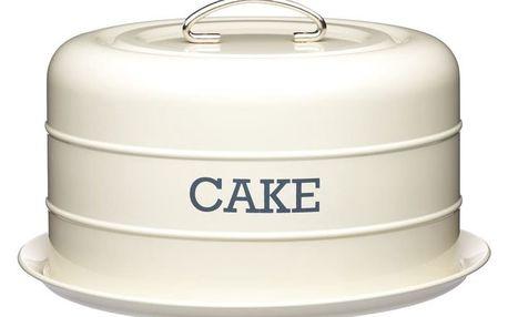 Krémová plechová dóza na koláč Kitchen Craft Nostalgia