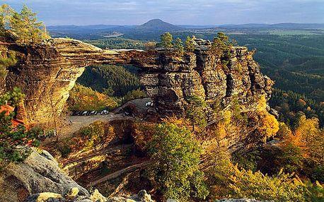 Léto/podzim v Českém Švýcarsku na 3-6 dní pro dva s polopenzí
