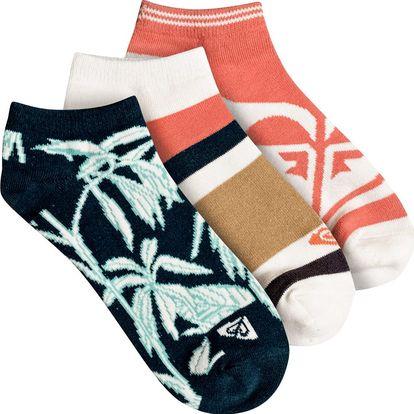 Ponožky Roxy Ankle Socks 3P reflecting pond univerzální velikost