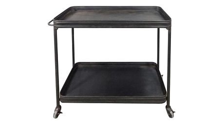 Černý pojízdný servírovací stolek WOOOD Lente - doprava zdarma!