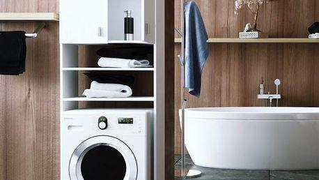 Skříňka nad pračku NATALI bílá Tempo Kondela
