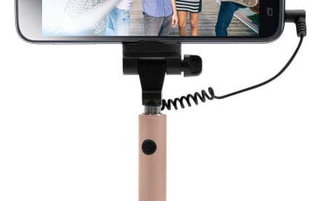 Selfie tyč FIXED Snap Mini - růžová/zlatá růžová/zlatá (FIXSS-SNM-RG)