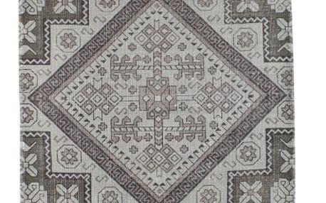 Šedý běhoun z bavlny Strömshaga Matta, 70 x 200 cm